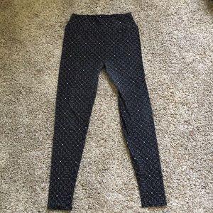 Lula Roe Black patterned leggings